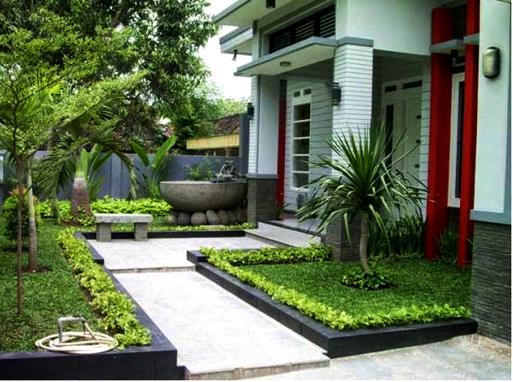 46 Desain Taman Sempit Depan Rumah HD Terbaik