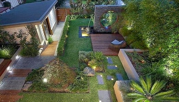 Desain Taman Rumah Mewah Bagikan Contoh