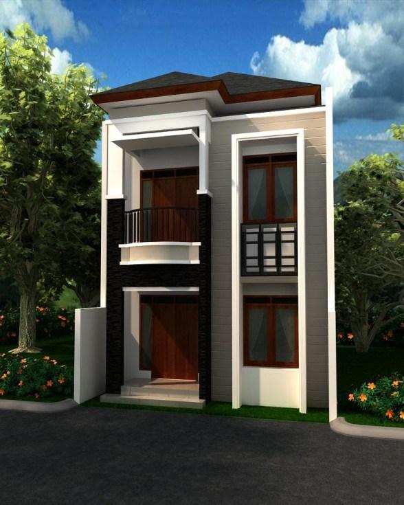 Gambar Rumah Minimalis Dua Lantai Buat Hidup Di Desa Sakti