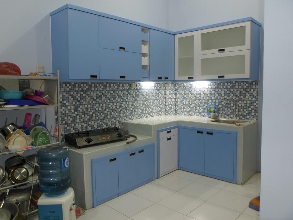 Kitchen Set Minimalis Multiplek Hpl Warna Biru Furniture Semarang 1