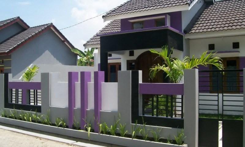 Pagar Rumah Minimalis Warna Ungu - Rumah Joglo Limasan Work