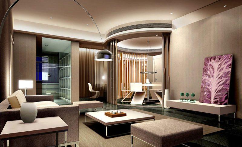 2 Interior Ruang Tamu Elegan Pada Rumah Mewah Modern